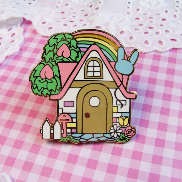 Animal Crossing House Enamel Pin Boutique